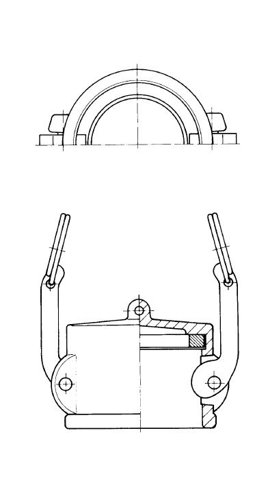 Чертеж соединения типа DC (заглушка)