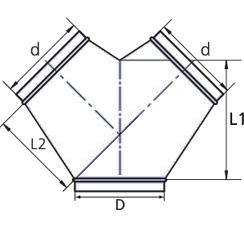 схема штанного воздуховода